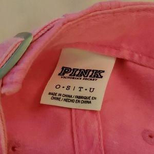 PINK Victoria's Secret Accessories - PINK Victoria's Secret hot pink denim cap